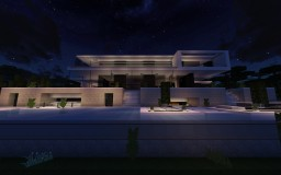 Realistic modern seaside house Minecraft