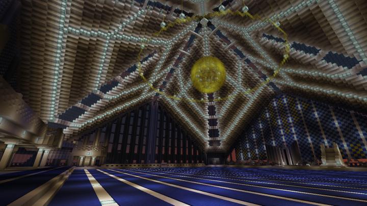 Inside of Faisal Khan Mosque