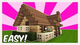 MINECRAFT TUTORIAL : HOW TO BUILD A STARTER HOUSE | Best Starter House / Starter Home ( EASY ) 2016 Minecraft