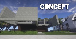 Concept modern house Minecraft Project