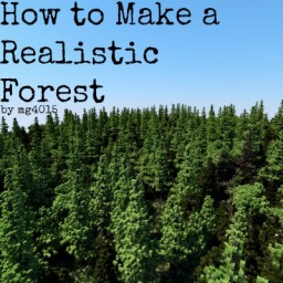 How to Make: Realistic Forest w/ World Painter Minecraft Blog Post