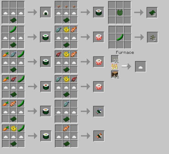 1 12 2] Sushi Mod (Now with Calamari!) Minecraft Mod