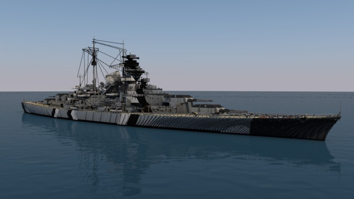 dkm bismarck 4 1 scale minecraft project