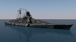 DKM Bismarck - 4:1 Scale Minecraft Project