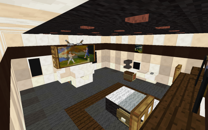 how to make a modern bedroom in minecraft