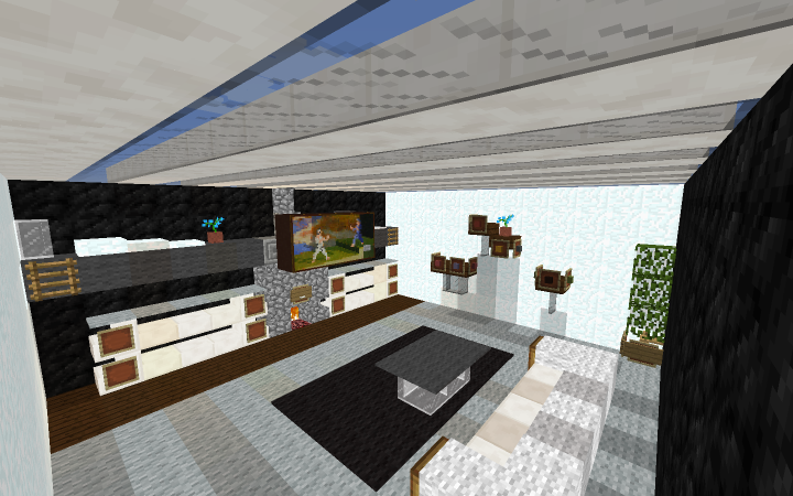 small modern living room [by pubbie] minecraft project