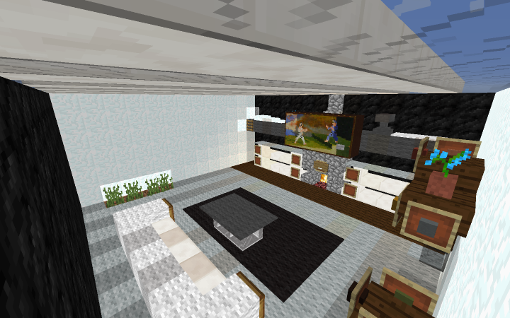 Small modern living room by pubbie minecraft project for A living room in minecraft