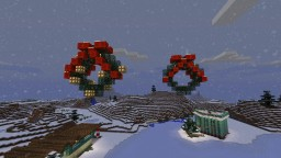 Hanging Christmas wreath decorated Minecraft Map & Project