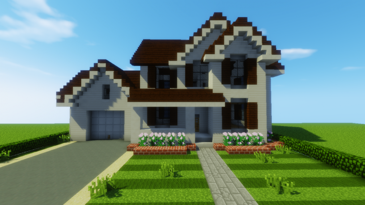 Suburban house 7 minecraft project for Houses projects