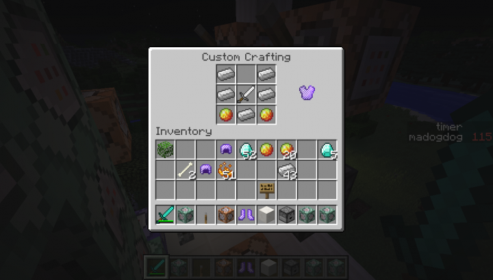 With custom crafting tables!