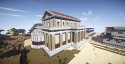 Roman basilica (My first real formal building) Minecraft