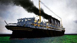 RMS Lusitania (1.8/1 Scale (exterior only)) 1915 + Download Minecraft Project