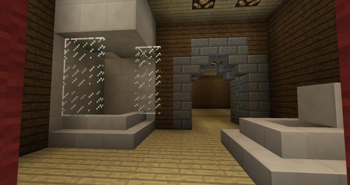 2nd floor master bath with working shower