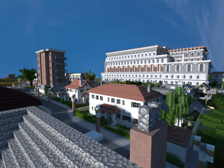 A shot from the Balmoral Avenue to the new Pacifica Havilland flat area. The big construction is the Paceman Opera