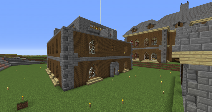Iron farm with outside made to look like the mansion