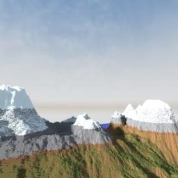 A Mountainous World Landscape Minecraft Map & Project