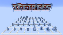Ice Trees Bundle [48 Pack + Schematics] Minecraft Project