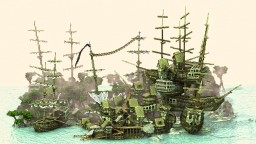 Ship stack shanty town - Explorable pirate map