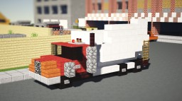 Red Concrete Mixer Truck Minecraft Map & Project
