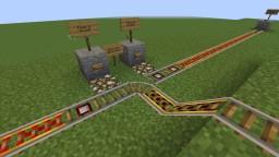 Vanilla User-friendly Minecart Interchange (Rail Junction)