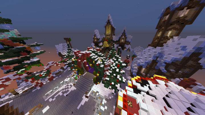 Download] New Hub Hypixel Chrsitmas Minecraft Project