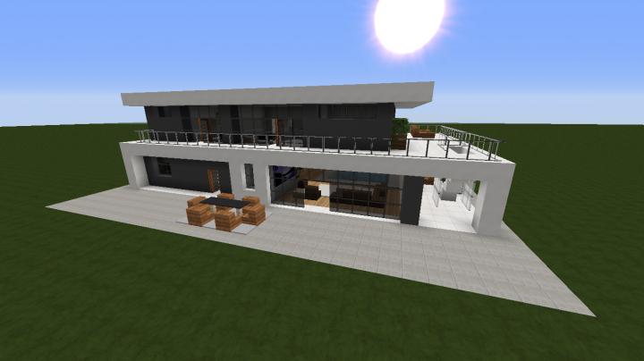 Modern House 2 Full Interior Minecraft Project