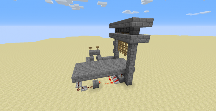 Redstone Functional Castle Gate Minecraft Map