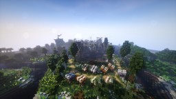 SalmonPond , a medieval fishing village - Mαcαrοη_ Minecraft Project