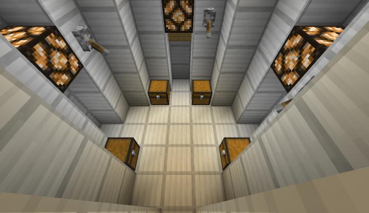 storege room in space shuttle
