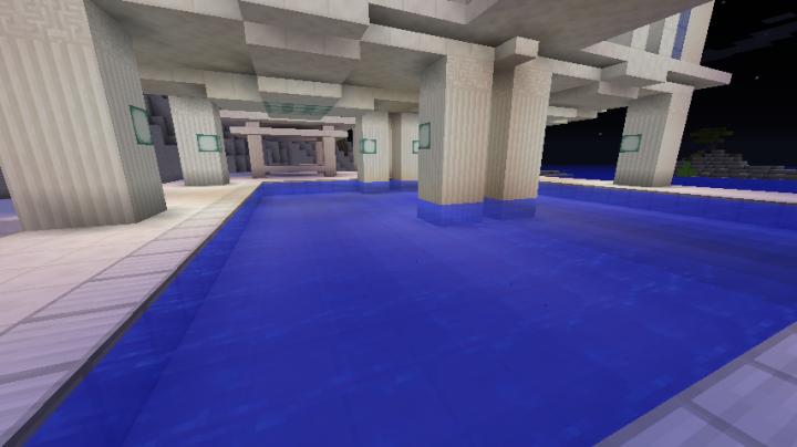 Smaller hotel pool.