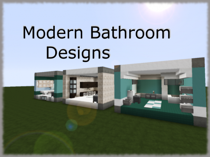 3 Modern Bathroom Designs Minecraft Project