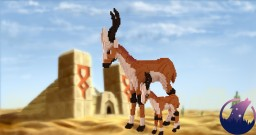 Gazelle and her little baby! Minecraft Project