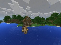 Lakeside Fishing Cabin Minecraft Map & Project