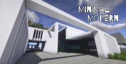 Minimal modern house Minecraft Map & Project