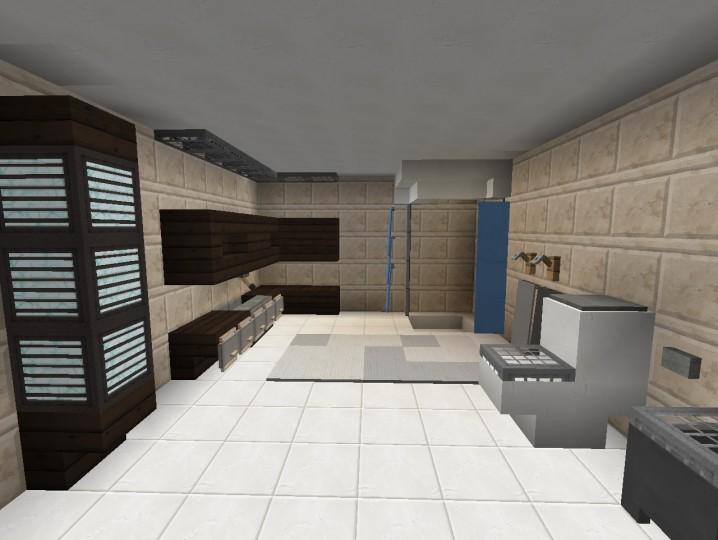 3 Modern Bathroom Designs Minecraft Map