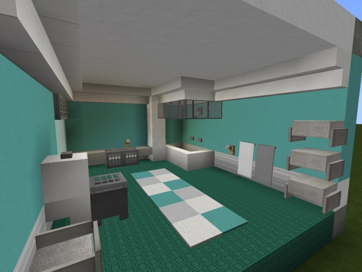 3 modern bathroom designs minecraft project for Bathroom designs minecraft