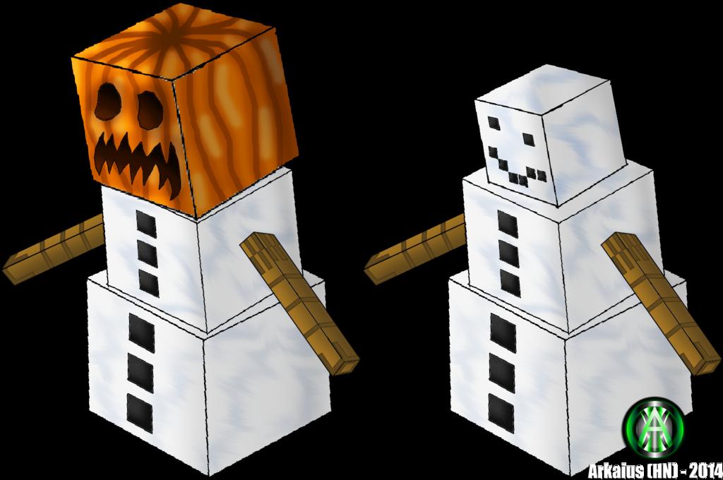 Minecraft Real Life Snow Golem