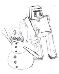 ~That Iron Golem Over There~ Life of a Snow Golem Minecraft Blog