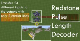24 I/O with 2 carry lines using redstone pulse length decoder Minecraft Map & Project