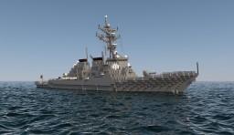 USS DDG Arleigh Burke Minecraft Map & Project