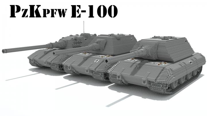 Pzkpfw E 100 220 Berschwerer Panzer Minecraft Project