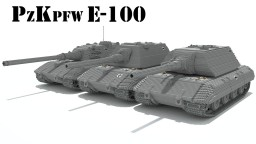 PzKpfw E-100 (Überschwerer panzer) Minecraft Map & Project