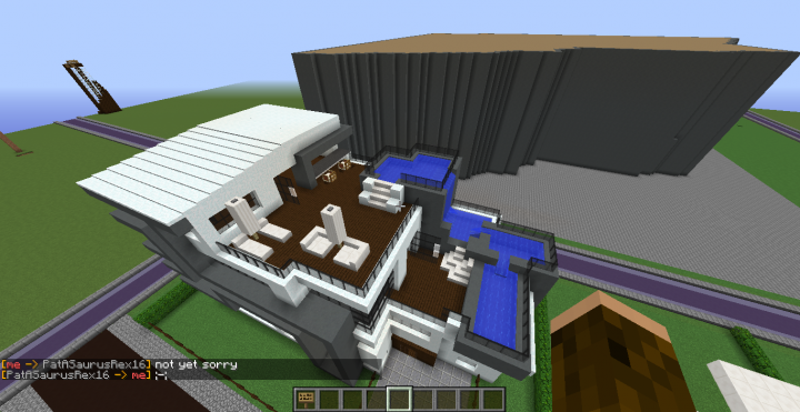 Pool And Stuff IK Its  A HUGE house Its also very ugly my first modern house