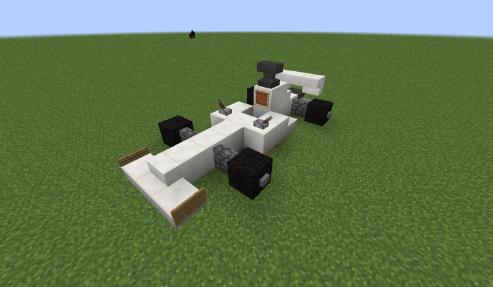 how to build a f1 race car in minecraft