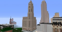 1920's Art Déco skyscraper - LeVeque Tower - Columbus Minecraft