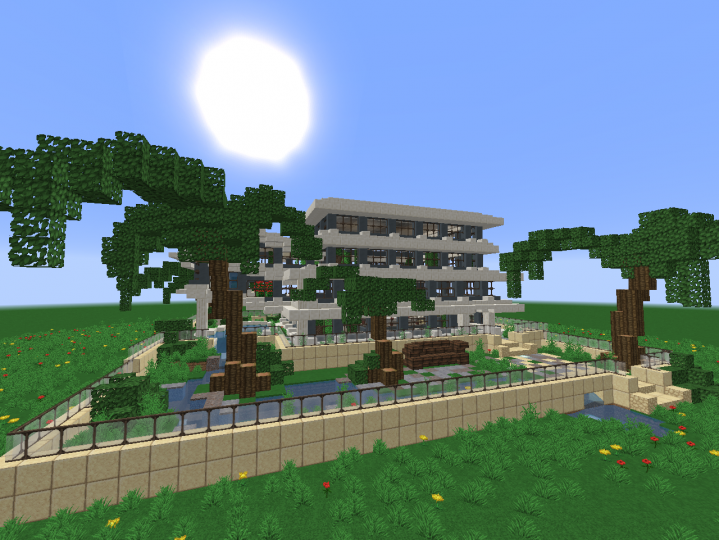 how to build a small mansion in minecraft