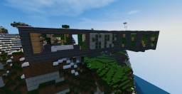 Cliff-side modern house Minecraft Map & Project