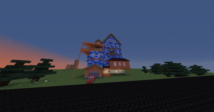 Hello Neighbor Alpha 1 House With Basement ORIGINAL Re Upload Minecraft Project