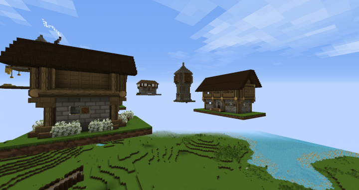 Some of the buildings, were having our build team build in the air so we can paste them in the correct area later on.