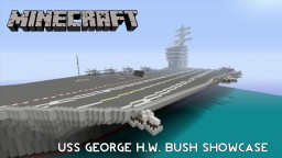 Minecraft USS George H.W. Bush (CVN-77) Aircraft Carrier Minecraft Project